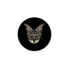 Angry Cyborg Cat Golf Ball Marker