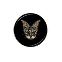Angry Cyborg Cat Hat Clip Ball Marker