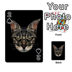 Angry Cyborg Cat Playing Cards 54 Designs