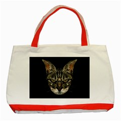 Angry Cyborg Cat Classic Tote Bag (Red)
