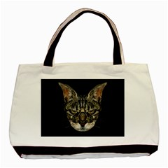 Angry Cyborg Cat Basic Tote Bag (Two Sides)