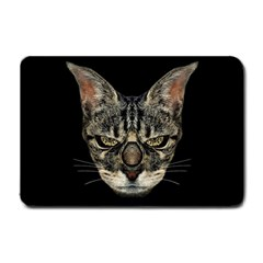 Angry Cyborg Cat Small Doormat