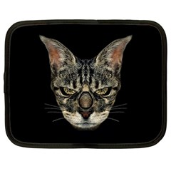 Angry Cyborg Cat Netbook Case (XL)