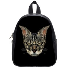 Angry Cyborg Cat School Bags (Small)
