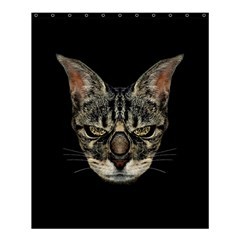 Angry Cyborg Cat Shower Curtain 60  x 72  (Medium)