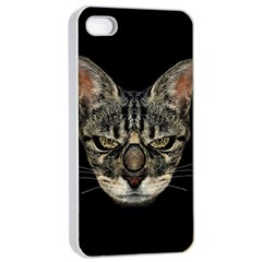 Angry Cyborg Cat Apple Iphone 4/4s Seamless Case (white)