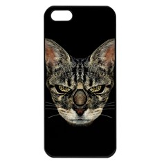 Angry Cyborg Cat Apple iPhone 5 Seamless Case (Black)