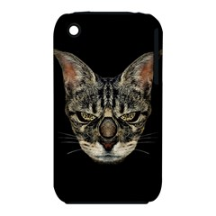 Angry Cyborg Cat Apple iPhone 3G/3GS Hardshell Case (PC+Silicone)