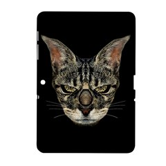 Angry Cyborg Cat Samsung Galaxy Tab 2 (10.1 ) P5100 Hardshell Case