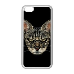 Angry Cyborg Cat Apple iPhone 5C Seamless Case (White)