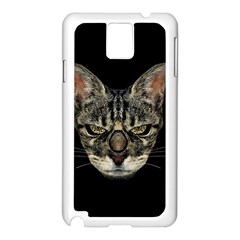 Angry Cyborg Cat Samsung Galaxy Note 3 N9005 Case (White)