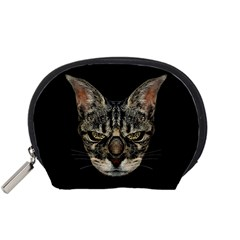 Angry Cyborg Cat Accessory Pouches (Small)