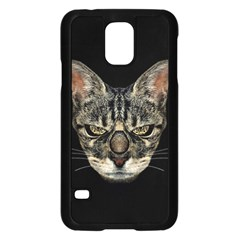 Angry Cyborg Cat Samsung Galaxy S5 Case (Black)