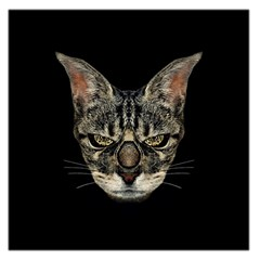Angry Cyborg Cat Large Satin Scarf (square)