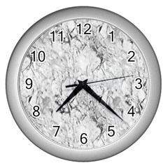 White Marble Wall Clocks (Silver)