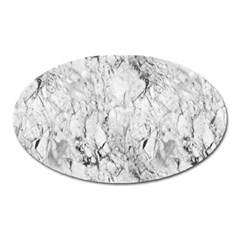 White Marble Oval Magnet