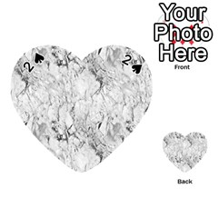 White Marble Playing Cards 54 (Heart)