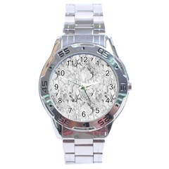White Marble Stainless Steel Men s Watch