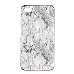 White Marble Apple iPhone 4/4s Seamless Case (Black)