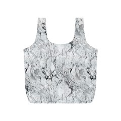 White Marble Full Print Recycle Bags (S)