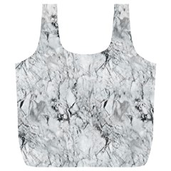 White Marble Full Print Recycle Bags (L)