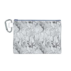 White Marble Canvas Cosmetic Bag (M)