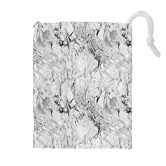 White Marble Drawstring Pouches (Extra Large)