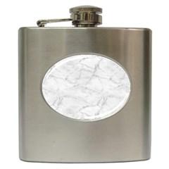 White Marble 2 Hip Flask (6 oz)