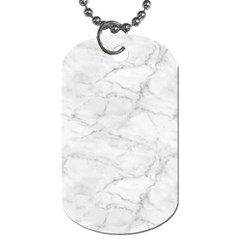 White Marble 2 Dog Tag (Two Sides)
