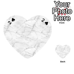 White Marble 2 Playing Cards 54 (heart)