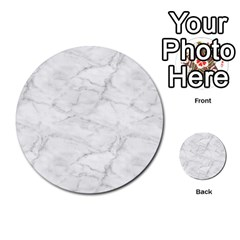 White Marble 2 Multi Purpose Cards (round)