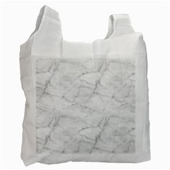 White Marble 2 Recycle Bag (Two Side)