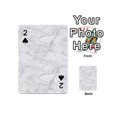 White Marble 2 Playing Cards 54 (Mini)