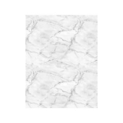 White Marble 2 Shower Curtain 48  X 72  (small)