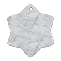 White Marble 2 Snowflake Ornament (2-Side)