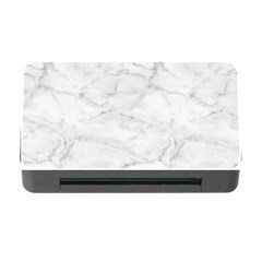 White Marble 2 Memory Card Reader With Cf