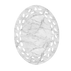 White Marble 2 Oval Filigree Ornament (2 Side)