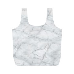White Marble 2 Full Print Recycle Bags (M)