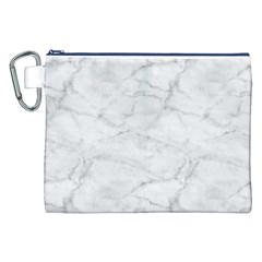 White Marble 2 Canvas Cosmetic Bag (XXL)