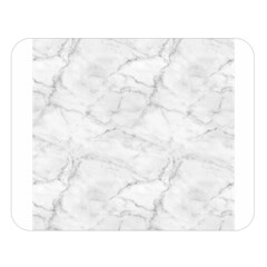 White Marble 2 Double Sided Flano Blanket (Large)