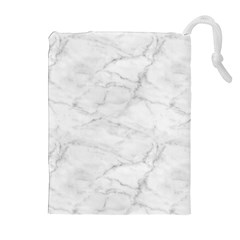 White Marble 2 Drawstring Pouches (extra Large)