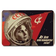Soviet Union In Space Large Door Mat