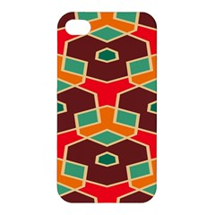 Distorted shapes in retro colorsApple iPhone 4/4S Hardshell Case