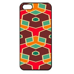 Distorted shapes in retro colorsApple iPhone 5 Seamless Case (Black)