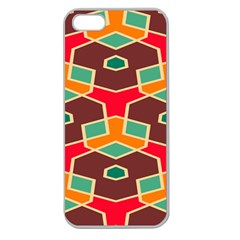 Distorted shapes in retro colorsApple Seamless iPhone 5 Case (Clear)