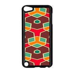 Distorted shapes in retro colors			Apple iPod Touch 5 Case (Black)