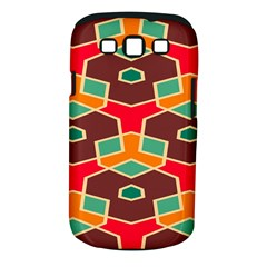 Distorted shapes in retro colorsSamsung Galaxy S III Classic Hardshell Case (PC+Silicone)
