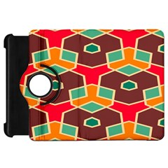 Distorted shapes in retro colorsKindle Fire HD Flip 360 Case