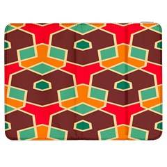 Distorted shapes in retro colors			Samsung Galaxy Tab 7  P1000 Flip Case