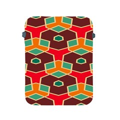 Distorted shapes in retro colorsApple iPad 2/3/4 Protective Soft Case
